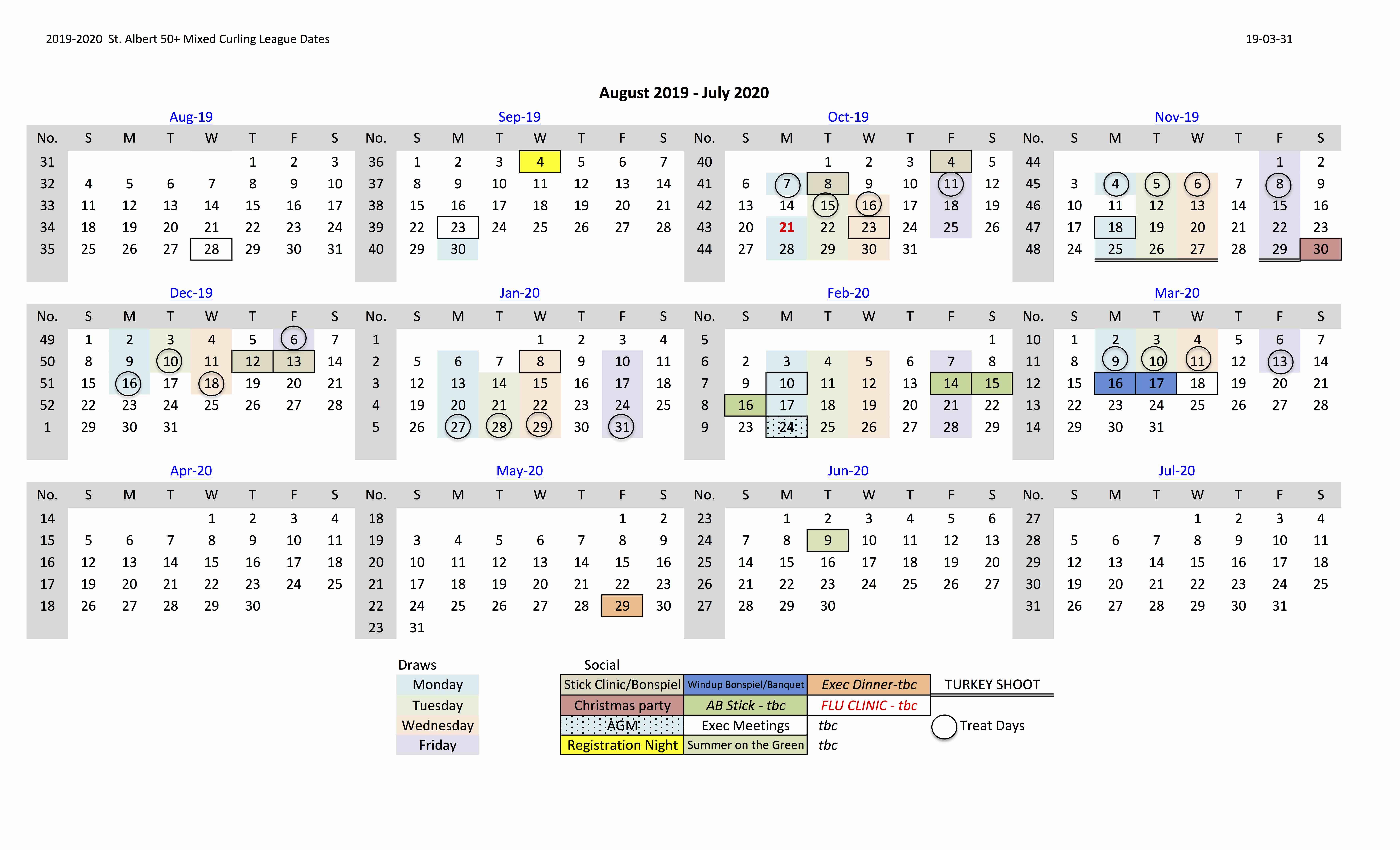 50 2019 20 Calendar