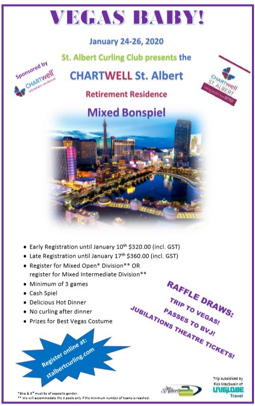 Mixed Bonspiel Vegas Baby Poster