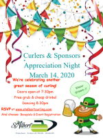 Curlers and Sponsors Appreciation Night